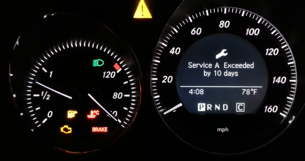 how to reset run flat indicator mercedes ml350