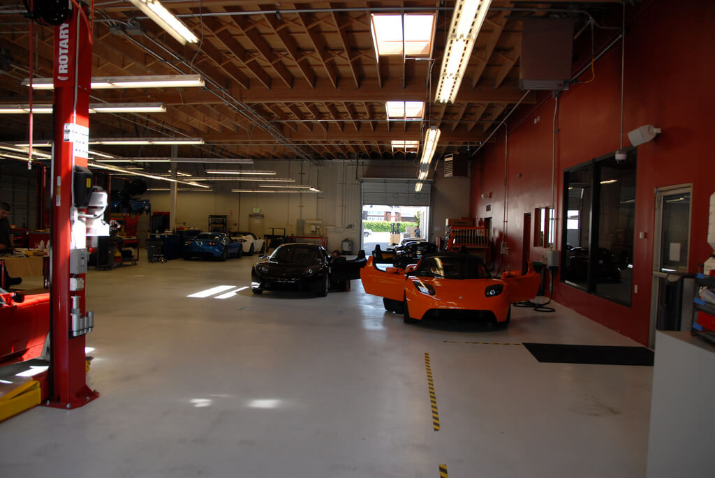 Tesla Repair & Service Garage