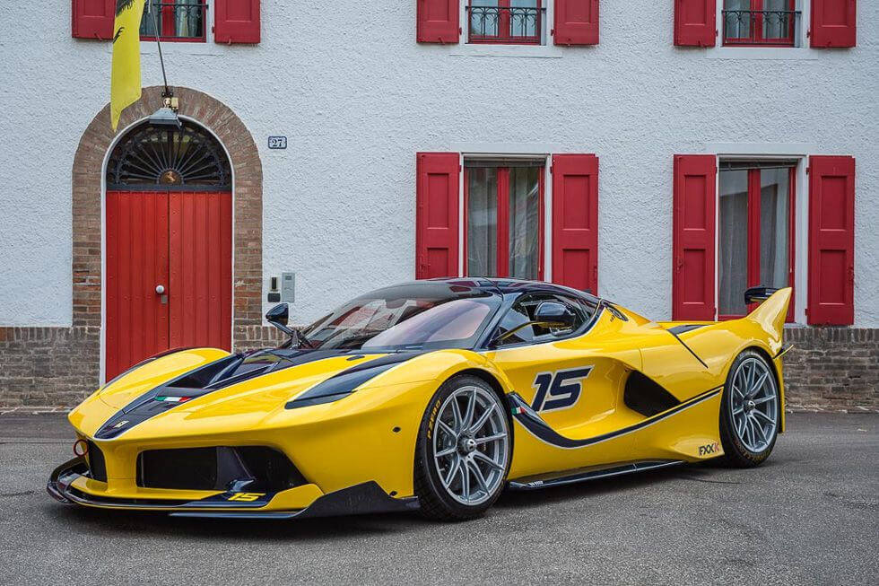 Ferrari Yellow FXX K Coupe